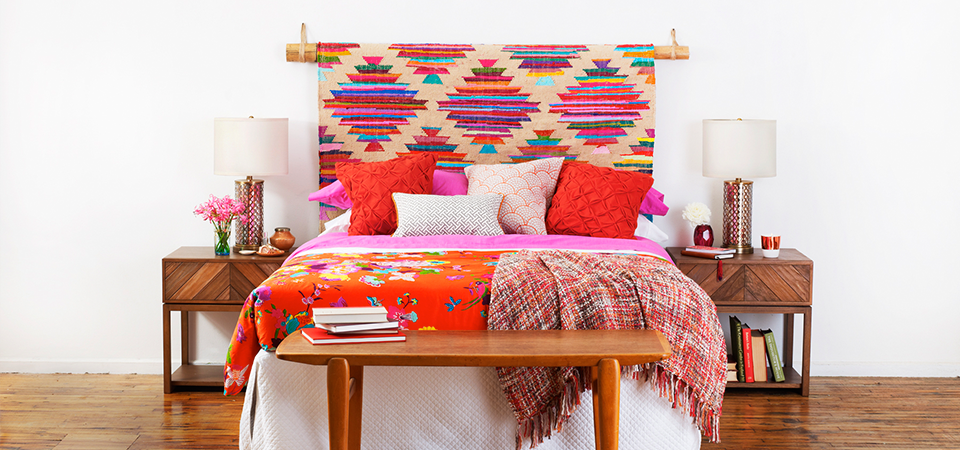 DIY Rug Headboard | Idea Central   The CB2 Blog