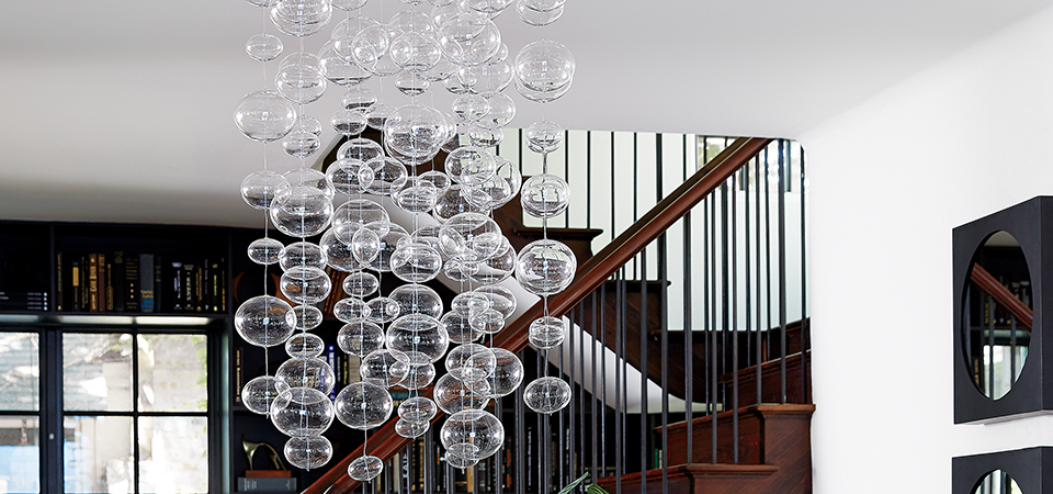 Glass ball chandelier idea central cb2 blog aloadofball Image collections
