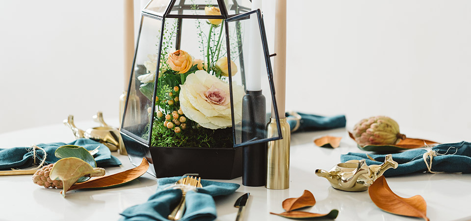 Terrarium Thanksgiving Centerpiece