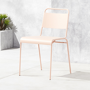 CB2 Lucinda Dusty Pink Stacking Chair