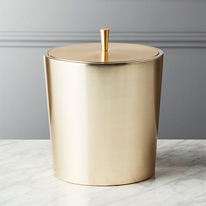 CB2 Neil Champagne Gold Ice Bucket