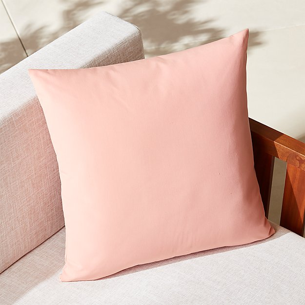 CB2 Dusty Pink Outdoor Pillow