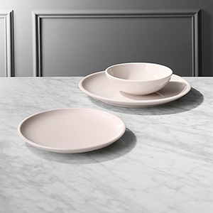 CB2 Reveal Pink Dinnerware