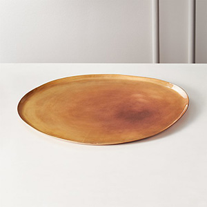 CB2 Sunset Bronze Serving Platter